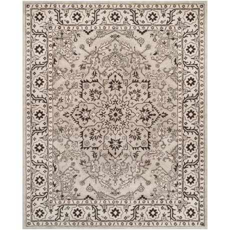 Safavieh Antiquity Collection Grey and Beige Area Rug - 8x10', Hand-Tufted Wool