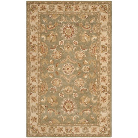 Safavieh Antiquity Collection Green and Gold Area Rug - 5x8', Hand-Tufted Wool