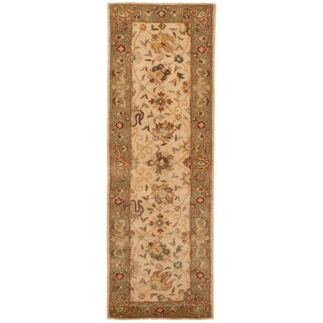 "Safavieh Antiquity Collection Ivory Floor Runner - 2'3""x8', Hand-Tufted Wool"
