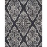Safavieh Wyndham Collection Dark Grey and Ivory Area Rug - 8x10', Hand-Tufted Wool