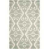 Safavieh Wyndham Collection Grey and Ivory Area Rug - 5x8', Hand-Tufted Wool