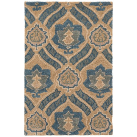 "Safavieh Wyndham Collection Blue and Grey Floor Runner - 2'6""x4', Hand-Tufted Wool"