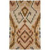 """Safavieh Wyndham Collection Brown and Ivory Floor Runner - 2'6""""x4', Hand-Tufted Wool"""
