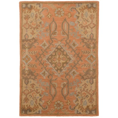 """Safavieh Wyndham Collection Terracotta Floor Runner - 2'6""""x4', Hand-Tufted Wool"""