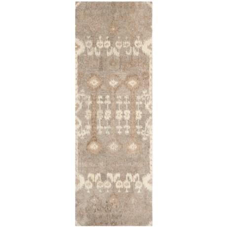 "Safavieh Wyndham Collection Multi-Natural Floor Runner - 2'3""x7', Hand-Tufted Wool"