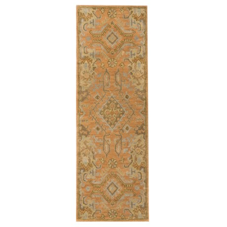 "Safavieh Wyndham Collection Terracotta Floor Runner - 2'3""x7', Hand-Tufted Wool"