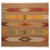 Safavieh Kilim Collection Multi-Red Square Area Rug - 7x7', Hand-Tufted Wool