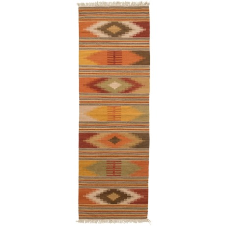 "Safavieh Kilim Collection Multi-Red Floor Runner - 2'3""x8', Hand-Tufted Wool"