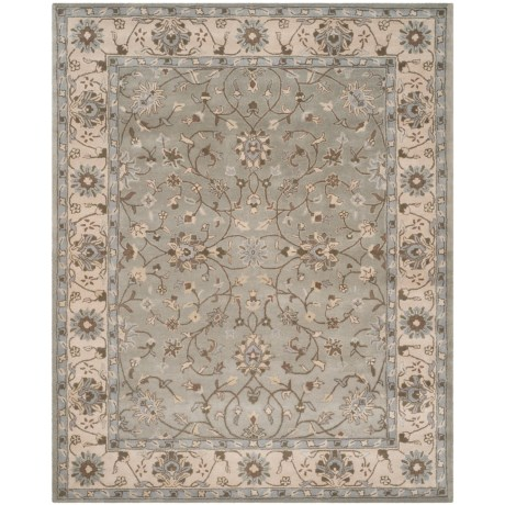 Safavieh Heritage Collection Beige and Grey Area Rug - 8x10', Hand-Tufted Wool