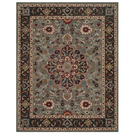 Safavieh Heritage Collection Grey and Charcoal Area Rug - 8x10', Hand-Tufted Wool