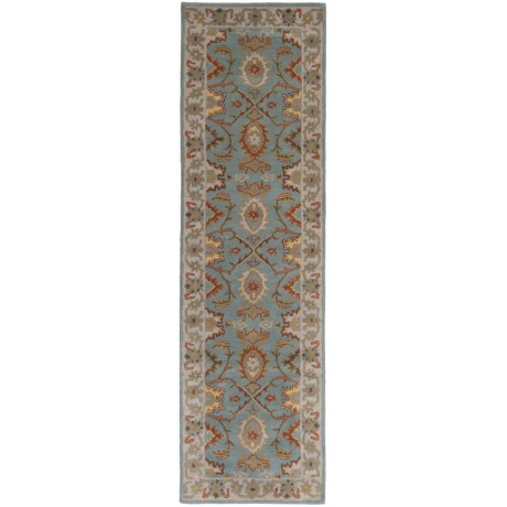 "Safavieh Heritage Collection Grey and Charcoal Floor Runner - 2x3""x8', Hand-Tufted Wool"