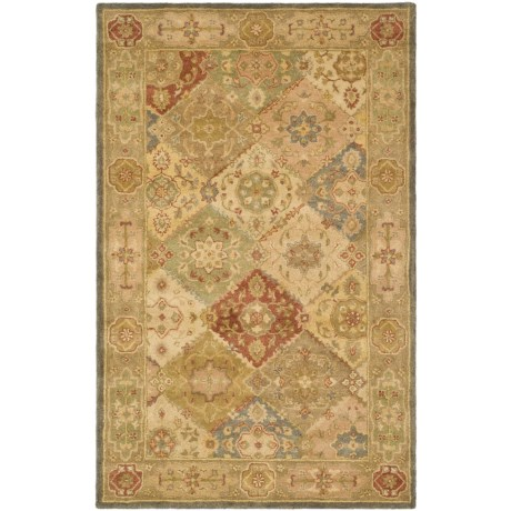 Safavieh Antiquity Collection Multi-Beige Area Rug - 5x8', Hand-Tufted Wool