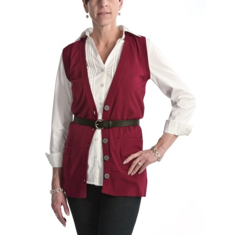 Nomadic Traders Cotton B-Friend Vest - V-Neck (For Women)
