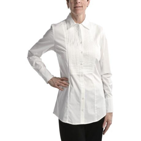 Nomadic Traders Stretch Cotton Tuxedo Shirt - Long Sleeve (For Women)