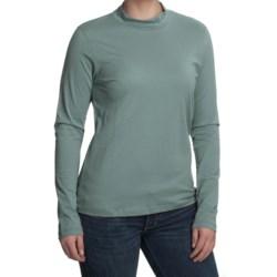 Nomadic Traders Mock Neck Shirt - Pima Cotton, Long Sleeve (For Women)
