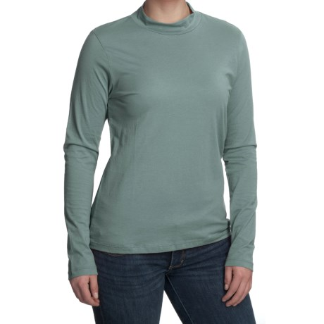 Nomadic Traders Mock Neck Shirt - Pima Cotton, Long Sleeve (For Women)