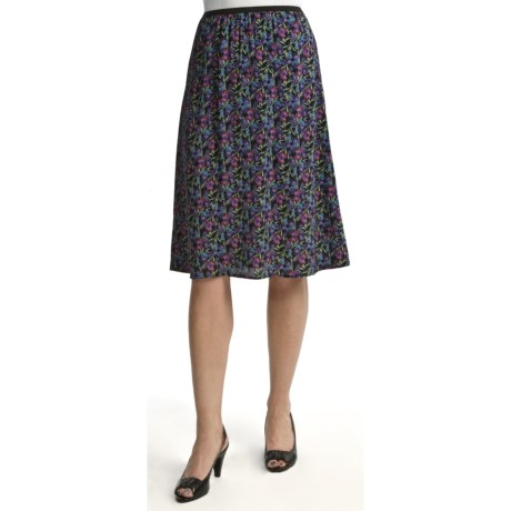 Nomadic Traders A-Line Moss Crepe Skirt (For Women)