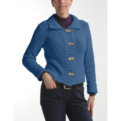 Nomadic Traders Crop Knit Jacket - Button Front (For Women)