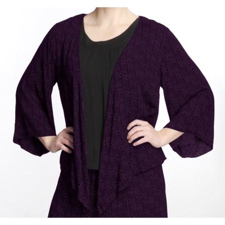 Fresco by Nomadic Traders Yoshi Shirt - Crinkle Rayon, 3/4 Sleeve (For Women)