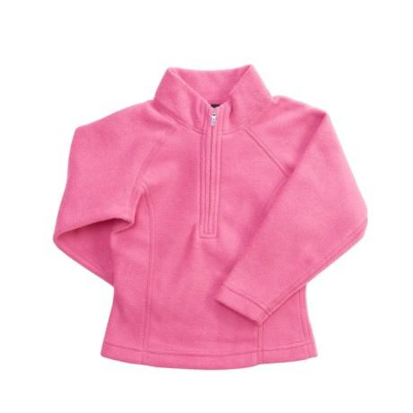 Obermeyer Twinkle II Fleece Shirt - Zip Mock Neck, Long Sleeve (For Little Girls)