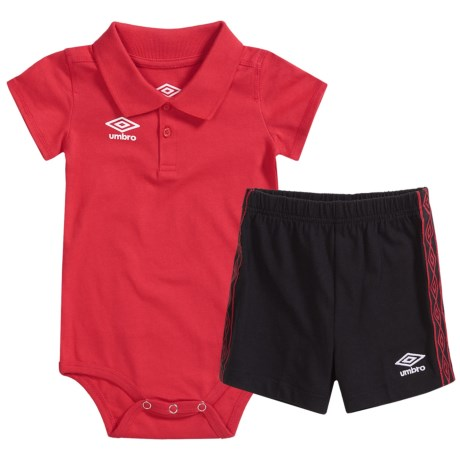 Umbro Good Sport Polo Creeper and Shorts Set - 2-Piece, Short Sleeve (For Infants)