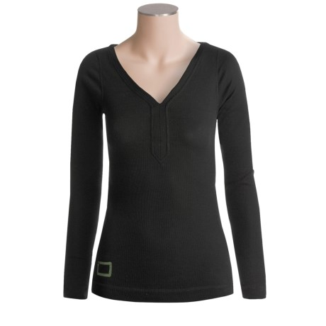 I/O Bio Merino Contact 1 V-Neck Shirt - Merino Wool, Long Sleeve (For Women)