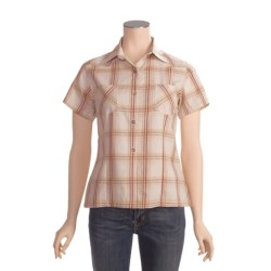 Outback Trading Rural Girl Plaid Shirt - Cotton, Short Sleeve (For Women)