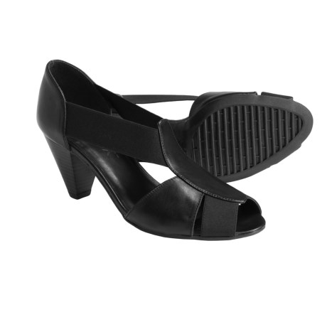 The Flexx Lady-T Leather Pumps - Peep Toe (For Women)