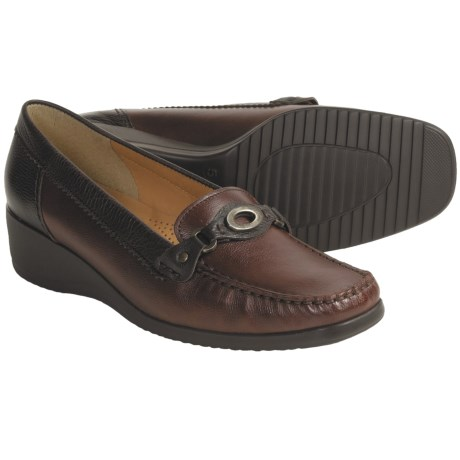 Ara Edna Leather Loafer Shoes - Wedge Heel (For Women)