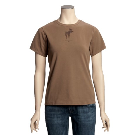 Ryan Michael Cotton Jersey Knit Shirt - Screenprint, Short Sleeve (For Women)