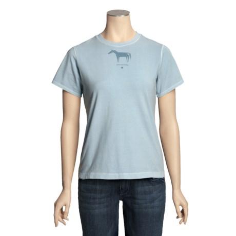 Ryan Michael Cotton Jersey Knit Shirt - Screenprint, Short Sleeve (For Women)