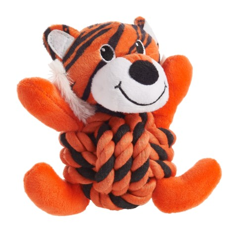 Throw Me A Bone Rope Ball Dog Toy - Tiger