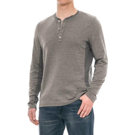 Michael Stars Buttoned Henley Shirt - Long Sleeve (For Men)