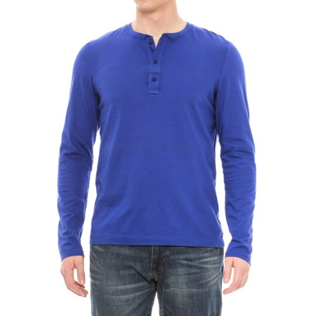 Michael Stars Henley Shirt - Long Sleeve (For Men)