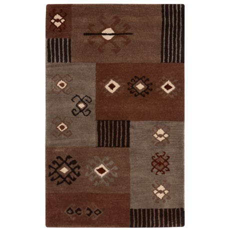 Rizzy Home Tumble Weed Loft Collection Beige and Grey Accent Rug - 3x5'