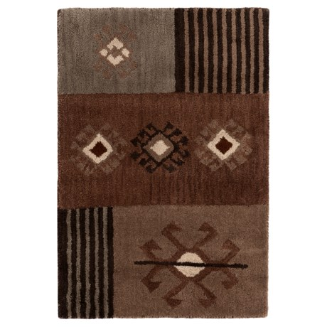 Rizzy Home Tumble Weed Loft Collection Beige and Grey Scatter Accent Rug - 2x3'