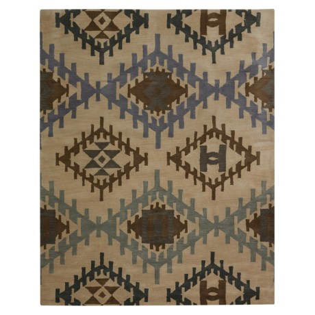 Rizzy Home Tumble Weed Loft Collection Blue Diamond Area Rug - 8x10'