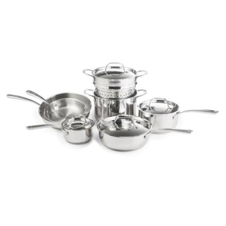 Lagostina Luminosa Stainless Steel Cookware Set - 11-Piece
