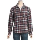 Outback Trading Big Plaid Shirt - Fleece, Long Sleeve (For Women)