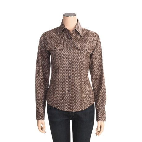 Outback Trading Barn Girl Shirt - Cotton, Long Sleeve (For Women)