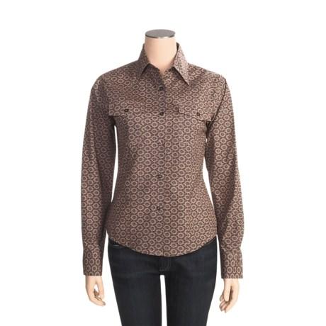 Outback Trading Barn Girl Shirt - Cotton, Long Sleeve (For Women)