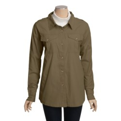 Outback Trading Garment-Washed Cotton Shirt - Long Sleeve (For Women)