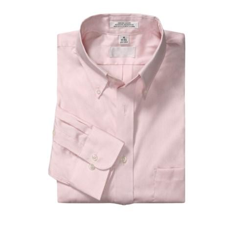Cotton-Rich Sport Shirt - Button-Down Collar, Long Sleeve (For Men)