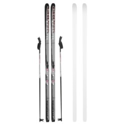 Whitewoods Crosstour Touring Nordic Skis - Rottefella NNN Bindings and Poles (For Men and Women)