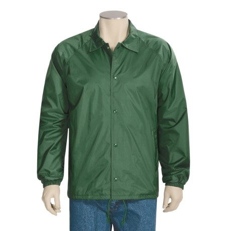 Jerzees Lined Jacket - Raglan Sleeve, Snap Front (For Men and Women)