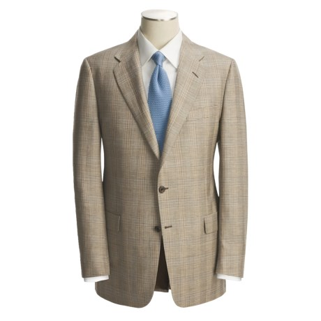 Hickey Freeman Plaid Sport Coat - Worsted Wool-Linen (For Men)