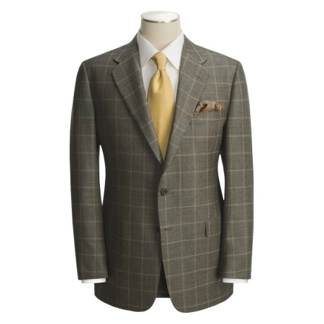 Hickey Freeman Windowpane Sport Coat - Silk-Wool (For Men)