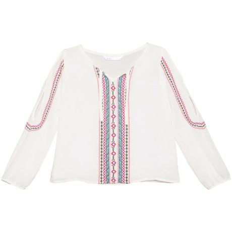 P.S. from Aeropostale Crinkle Gauze Shirt - Long Sleeve (For Little Girls)