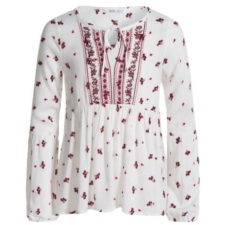 P.S. from Aeropostale Crinkle Gauze Babydoll Shirt - Long