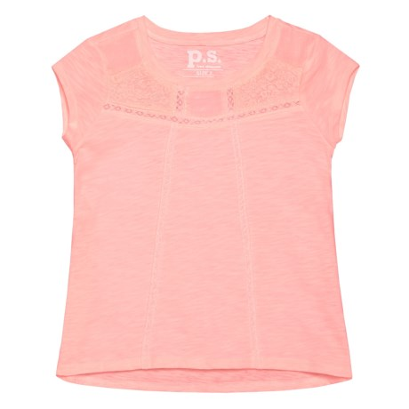 P.S. from Aeropostale Lace Slub Tunic Shirt - Short Sleeve (For Big Girls)